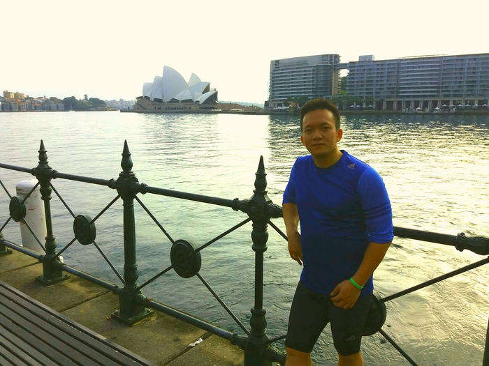 Joggingtour durch Sydney