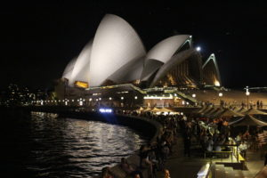 Sydney Circular Quay - Opera House bei Nacht