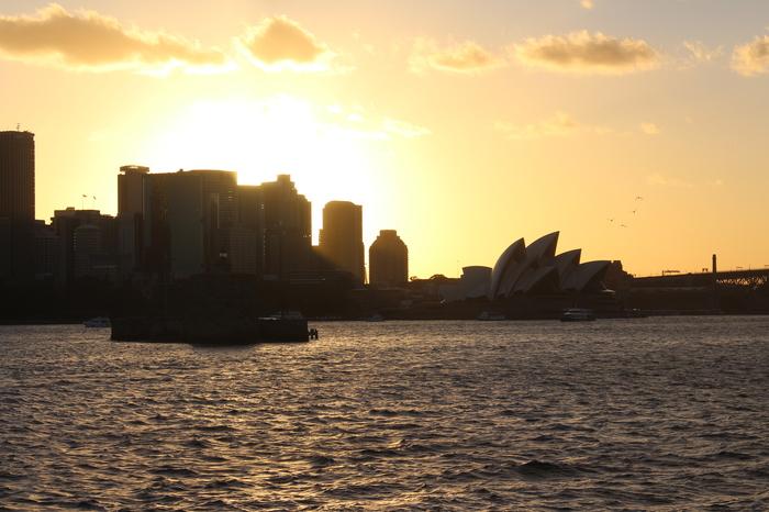 Sydney Circular Quay – Sonnenuntergang