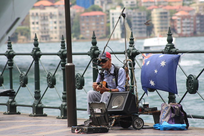 Sydney Circular Quay – Straßenmusikant