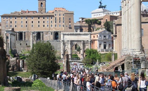 Forum Romanum nach Eintritt