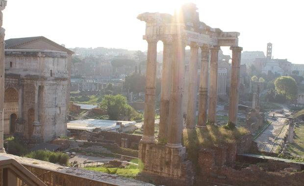 Forum Romanum von außerhalb