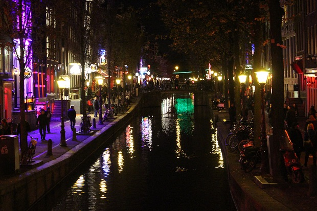 Eine Tour durch das Red Light District in Amsterdam