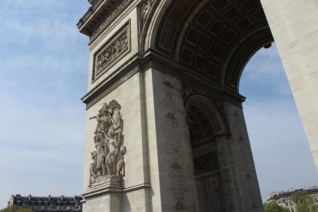 Arc de Triomphe unter dem Architektur