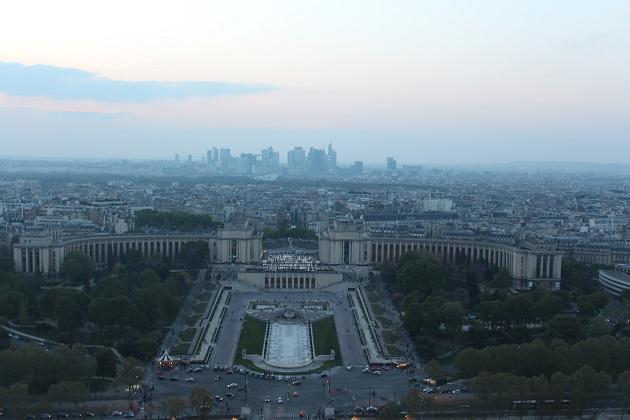 Ausblick vom Pariser Eiffelturm