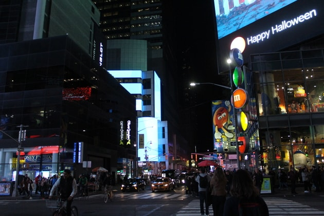 Times Square mit M&M Shop