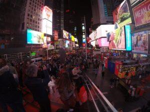 Times Square mit der GoPro aufgenommen
