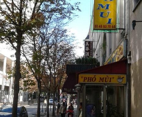 Geschäft in Chinatown Paris