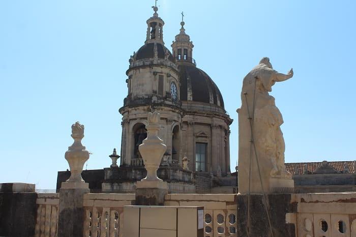 Ausblick auf die Stadt Catania