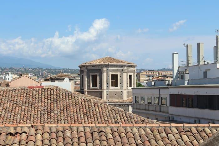Ausblick auf die Stadt Catania von oben