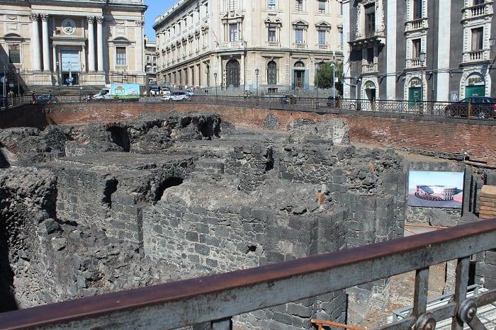 Catania Amphitheater von oben