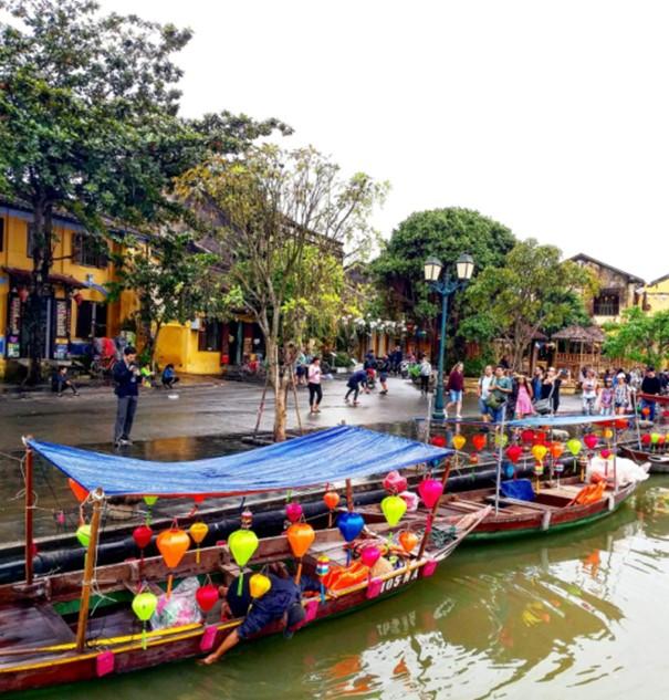 mit dem Boot in Hoi An